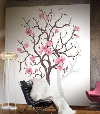 Mr Perswall Magnolia Tree mural - Product code: P030401-W