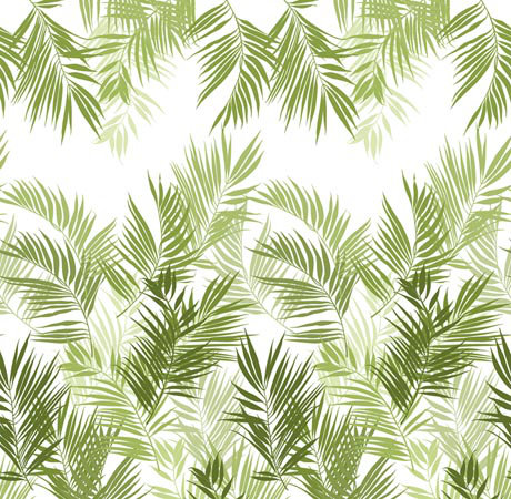 Mr Perswall Jungle Leaves mural - Product code: P031602-W