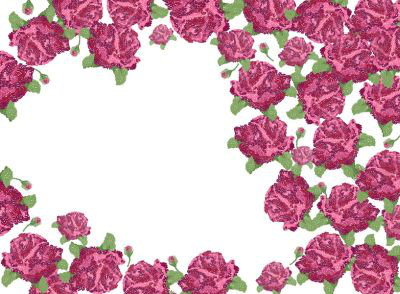 Mr Perswall Rose Garden Mural - Product code: P010301-8