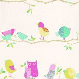 Harlequin What-a-Hoot Pink / Green Wallpaper - Product code: 70515