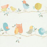 Harlequin What-a-Hoot Orange / Blue Wallpaper - Product code: 70516