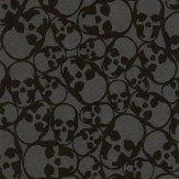 Barbara Hulanicki Skulls Black Wallpaper