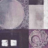 Arthouse Purple Printed Abstract Art