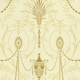 Little Greene Marlborough Gold / Cream Wallpaper