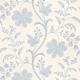 Little Greene Bedford Square China Blue / White Wallpaper - Product code: 0273BEPORCE