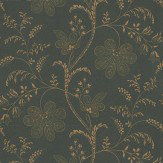 Little Greene Bedford Square Metallic Gold / Charcoal Wallpaper - Product code: 0273BEEBONY