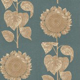 Sanderson Palladio Sunflower Gold / Grey Wallpaper