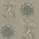 Sanderson Palladio Sunflower Black / Silver Wallpaper