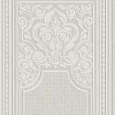 Anaglypta Oriental Dado Panel Paintable White Wallpaper