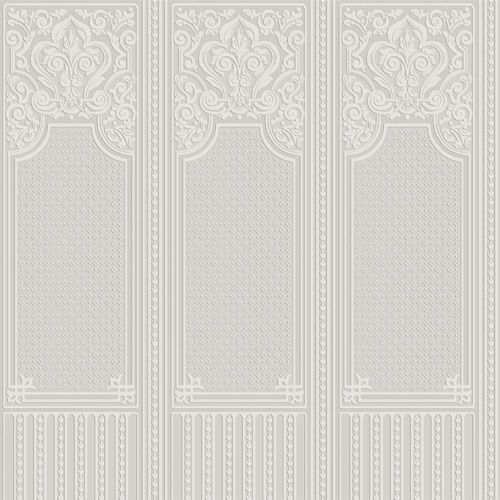 Oriental Dado Panel By Anaglypta Paintable White