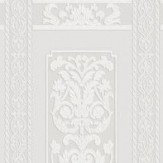 Anaglypta Rococo Dado Panel Paintable White Wallpaper