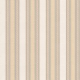 Albany Ornate Stripe Beige / Bronze Wallpaper