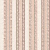 Albany Ornate Stripe Rose Pink Wallpaper