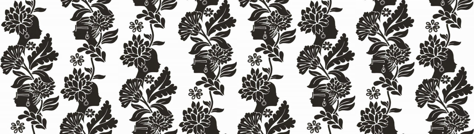 black and white damask wallpaper. Product. Paper