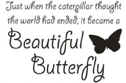 Image of Wall Word Designs Stickers Beautiful Butterfly - black, 1062-2