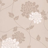 Laura Ashley Isodore  Truffle Wallpaper