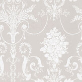 Laura Ashley Josette  White/Dove Grey Wallpaper - Product code: 3260343