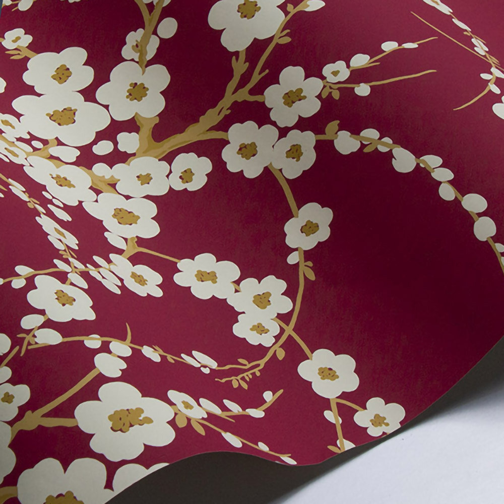 Laura Ashley Lori  Cranberry Wallpaper - Product code: 3439802