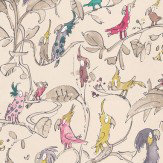 Osborne & Little Cockatoos Pink / Purple / Beige Wallpaper