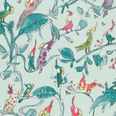 Osborne & Little Cockatoos Turquoise Wallpaper - Product code: W6060/04