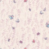 Osborne & Little Butterfly Meadow Pink / Purple / Blue Wallpaper - Product code: W6061/03