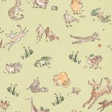 Osborne & Little Quentin's Menagerie Lime Wallpaper
