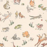 Osborne & Little Quentin's Menagerie Beige / Multi Wallpaper - Product code: W6063/04
