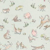 Osborne & Little Quentin's Menagerie Aqua / Multi Wallpaper