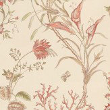 Sanderson Mauritius Coral / Cream Wallpaper - Product code: DCAVMA104