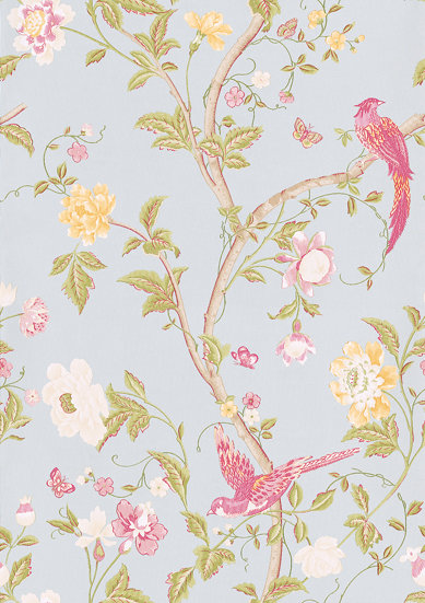 Laura Ashley Summer Palace  Duck Egg  Wallpaper main image