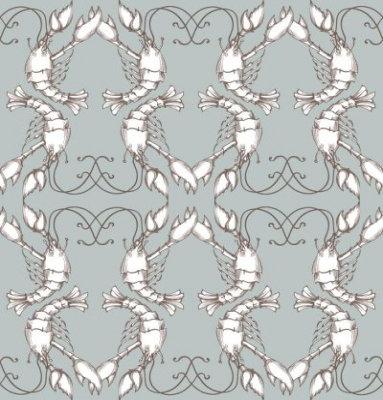 Image of Georgia Horton Wallpapers Lobster Quadrille, 5112