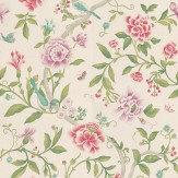 Sanderson Porcelain Garden Magenta/Leaf Green Wallpaper