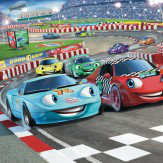 Walltastic Car Racers Mural Multi-coloured - Product code: 41721