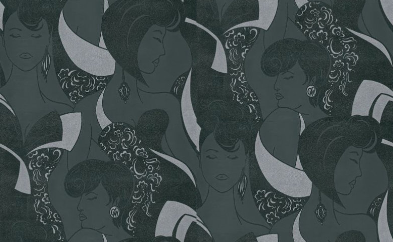 Image of Opus Muras Wallpapers Claudine Rich Ebony, OMCC09100