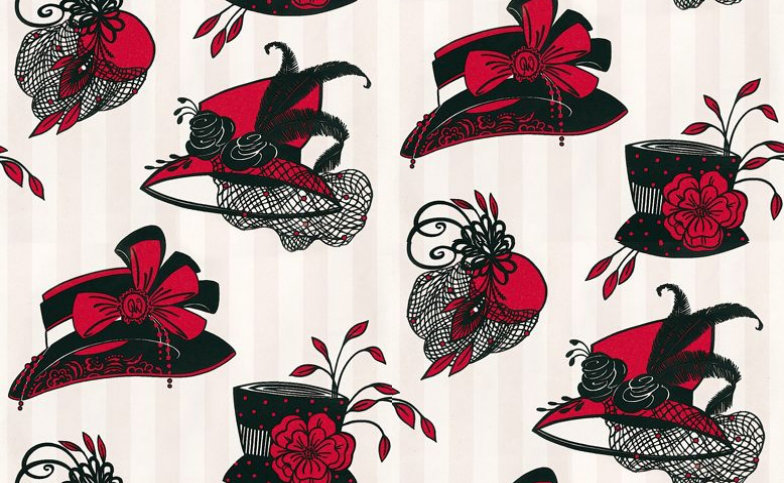 Image of Opus Muras Wallpapers Harriette Candy Pink & Lipstick, OMCC09105