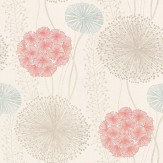 Harlequin Gardenia Grey / Raspberry / Off White Wallpaper
