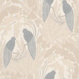 Harlequin Love Birds Grey / Beige Wallpaper
