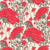 Harlequin Amour Red / Grey Wallpaper