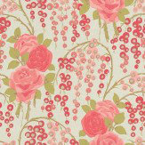 Harlequin Iola Rose Rose / Duck Egg Wallpaper