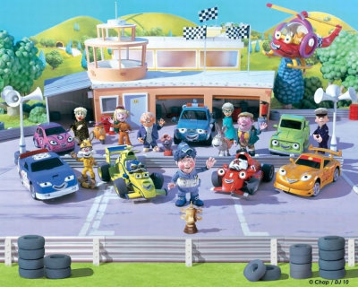 Walltastic Murals Roary the Racing Car Mural Roary Racing Car