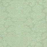 Zoffany Tussah Damask Blue Wallpaper