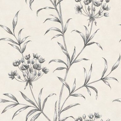 Image of Zoffany Wallpapers Agapanthus Charcoal, ZPAW04003