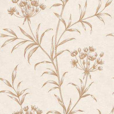 Image of Zoffany Wallpapers Agapanthus Gold, ZPAW04006