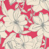 Harlequin Spirit Cream / Hot Pink Wallpaper