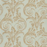 Nina Campbell Convivio Beige / Duck Egg Wallpaper - Product code: NCW4034/04