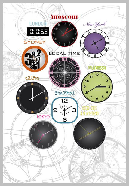 Mr Perswall Local Time Mural - Product code: P112401-4