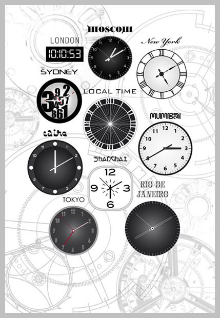 Mr Perswall Local Time Mural - Product code: P112402-4