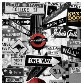 Mr Perswall Street Signs Mural - Product code: P112701-4
