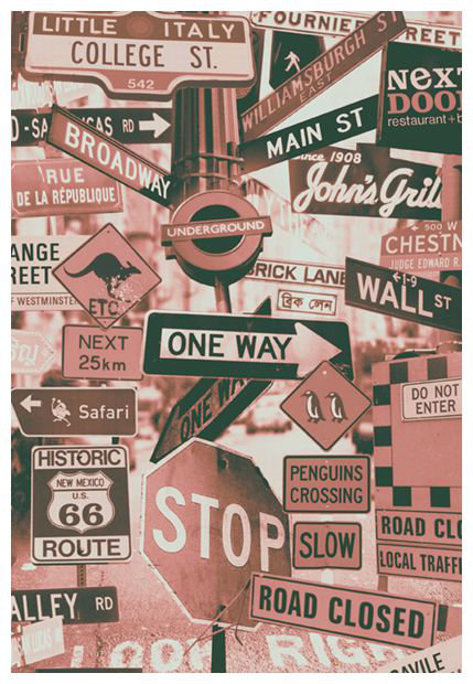 Mr Perswall Street Signs Mural - Product code: P112703-4