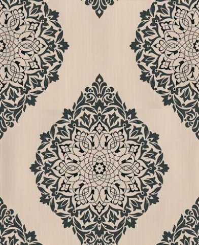 Kelly Hoppen Wallpaper Tattoo 30416 A strong damask diamond shape
